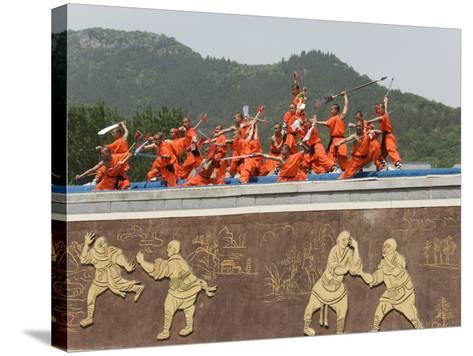 Shaolin Temple, Shaolin, Birthplace of Kung Fu Martial Art, Henan Province, China-Kober Christian-Stretched Canvas Print