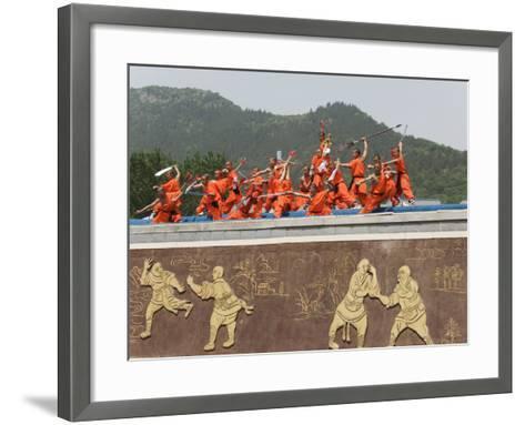 Shaolin Temple, Shaolin, Birthplace of Kung Fu Martial Art, Henan Province, China-Kober Christian-Framed Art Print