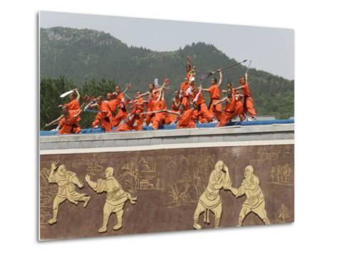 Shaolin Temple, Shaolin, Birthplace of Kung Fu Martial Art, Henan Province, China-Kober Christian-Metal Print
