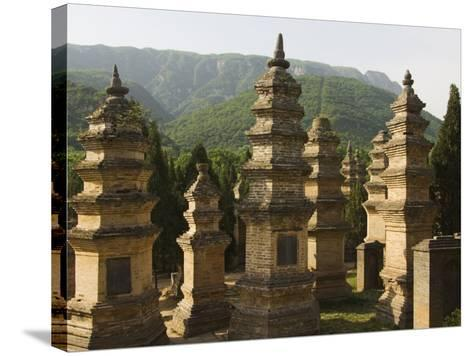 Shaolin Temple, the Birthplace of Kung Fu Martial Arts, Shaolin, Henan Province, China-Kober Christian-Stretched Canvas Print