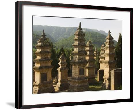 Shaolin Temple, the Birthplace of Kung Fu Martial Arts, Shaolin, Henan Province, China-Kober Christian-Framed Art Print