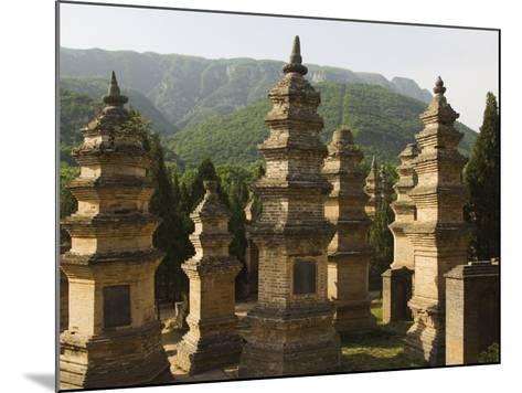 Shaolin Temple, the Birthplace of Kung Fu Martial Arts, Shaolin, Henan Province, China-Kober Christian-Mounted Photographic Print