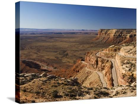Hairpin Bends Leading Down to the Valley of the Gods Near Monument Valley, Arizona, USA-Kober Christian-Stretched Canvas Print
