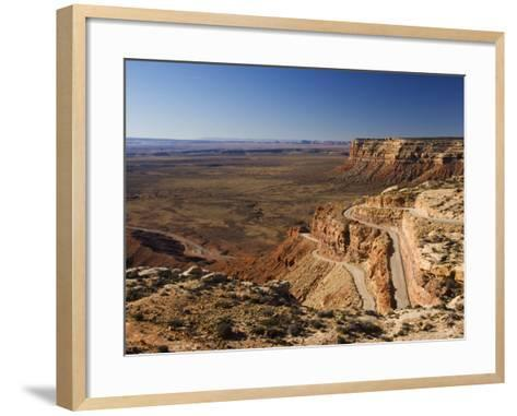 Hairpin Bends Leading Down to the Valley of the Gods Near Monument Valley, Arizona, USA-Kober Christian-Framed Art Print