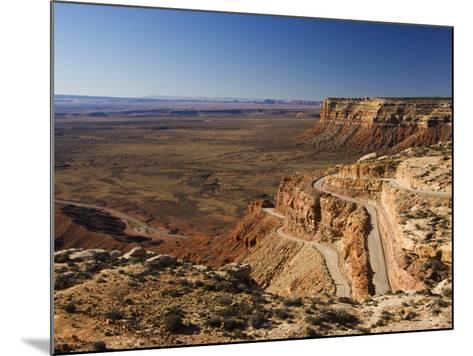 Hairpin Bends Leading Down to the Valley of the Gods Near Monument Valley, Arizona, USA-Kober Christian-Mounted Photographic Print