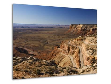 Hairpin Bends Leading Down to the Valley of the Gods Near Monument Valley, Arizona, USA-Kober Christian-Metal Print