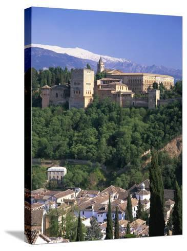 Alhambra Palace, UNESCO World Heritage Site, Granada, Andalucia, Spain, Europe-Gavin Hellier-Stretched Canvas Print