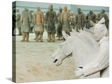 Museum of the Terracotta Warriors Opened in 1979 Near Xian City, Shaanxi Province, China-Kober Christian-Stretched Canvas Print