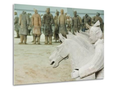 Museum of the Terracotta Warriors Opened in 1979 Near Xian City, Shaanxi Province, China-Kober Christian-Metal Print