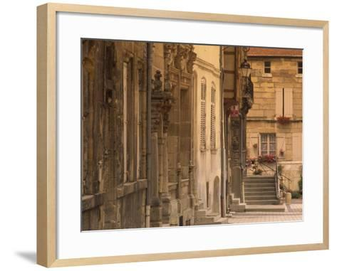 Buildings in the Medieval Haut-Ville in Bar-Le-Duc, Lorraine, France, Europe-David Hughes-Framed Art Print