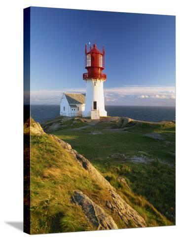 Lindesnes Fyr Lighthouse, Southernmost Point in Norway, Scandinavia, Europe-Gavin Hellier-Stretched Canvas Print