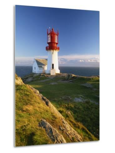 Lindesnes Fyr Lighthouse, Southernmost Point in Norway, Scandinavia, Europe-Gavin Hellier-Metal Print