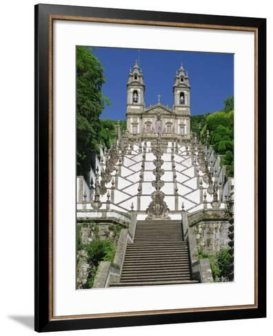 Basilica and Famous Staircases of Bom Jesus, Completed in 1837, Braga, Minho Region of Portugal-Maxwell Duncan-Framed Art Print