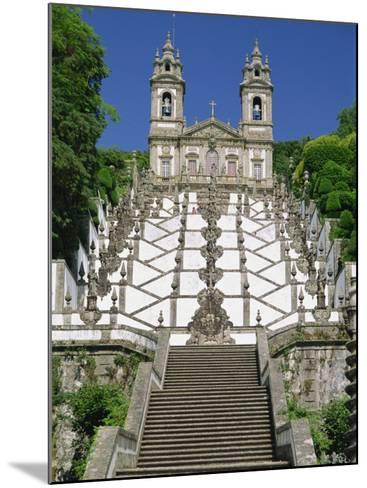 Basilica and Famous Staircases of Bom Jesus, Completed in 1837, Braga, Minho Region of Portugal-Maxwell Duncan-Mounted Photographic Print