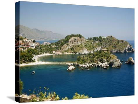Isola Bella Island and Beach, Taormina, Sicliy, Italy, Mediterranean, Europe-Levy Yadid-Stretched Canvas Print