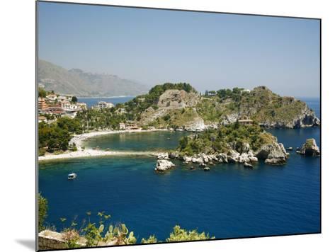 Isola Bella Island and Beach, Taormina, Sicliy, Italy, Mediterranean, Europe-Levy Yadid-Mounted Photographic Print