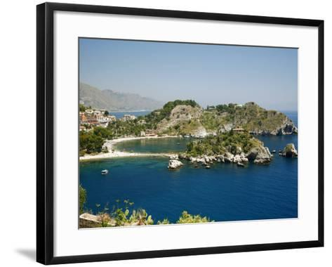 Isola Bella Island and Beach, Taormina, Sicliy, Italy, Mediterranean, Europe-Levy Yadid-Framed Art Print