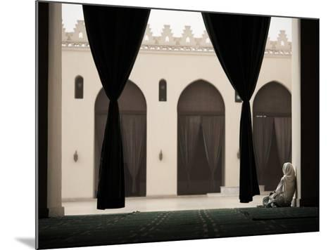 Woman Sitting in the Mosque of Al-Hakim, Cairo, Egypt, North Africa, Africa-Mcconnell Andrew-Mounted Photographic Print