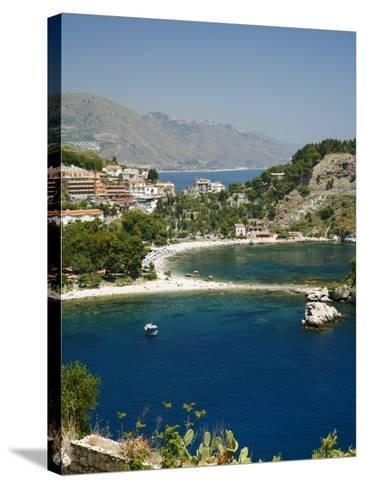 Isola Bella Island and Beach, Taormina, Sicliy, Italy, Mediterranean, Europe-Levy Yadid-Stretched Canvas Print