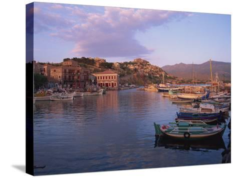 Harbour, Molyvos, Lesbos, Greek Islands, Greece, Europe-Lightfoot Jeremy-Stretched Canvas Print