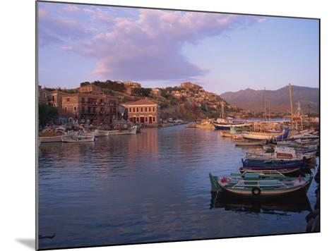 Harbour, Molyvos, Lesbos, Greek Islands, Greece, Europe-Lightfoot Jeremy-Mounted Photographic Print