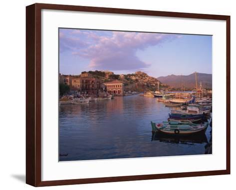 Harbour, Molyvos, Lesbos, Greek Islands, Greece, Europe-Lightfoot Jeremy-Framed Art Print