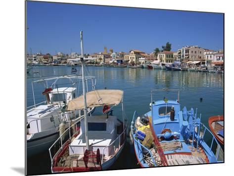 Fishing Boats Moored in Harbour, Aegina Town, Aegina, Saronic Islands, Greek Islands, Greece-Lightfoot Jeremy-Mounted Photographic Print