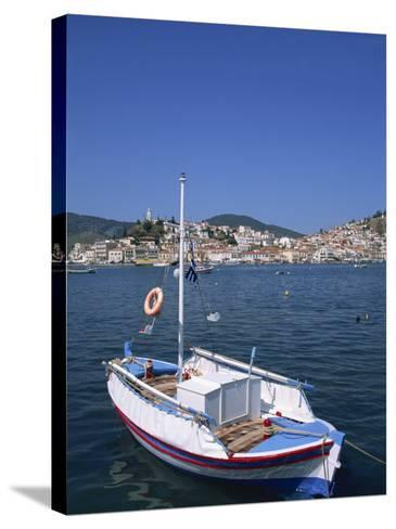 Small Boat in Harbour on Poros, Saronic Islands, Greek Islands, Greece, Europe-Lightfoot Jeremy-Stretched Canvas Print