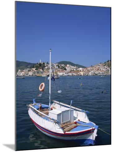 Small Boat in Harbour on Poros, Saronic Islands, Greek Islands, Greece, Europe-Lightfoot Jeremy-Mounted Photographic Print