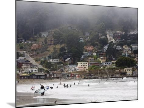 Surfers at Linda Mar Beach, Pacifica, California, United States of America, North America-Levy Yadid-Mounted Photographic Print