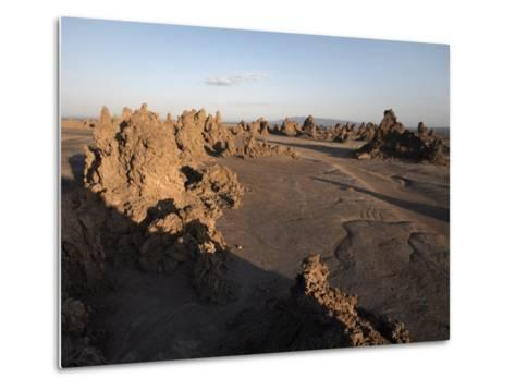 Desolate Landscape of Lac Abbe, Dotted with Limestone Chimneys, Djibouti, Africa-Mcconnell Andrew-Metal Print
