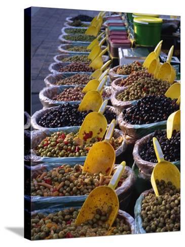 Olives on Market Stall, Provence, France, Europe-Miller John-Stretched Canvas Print