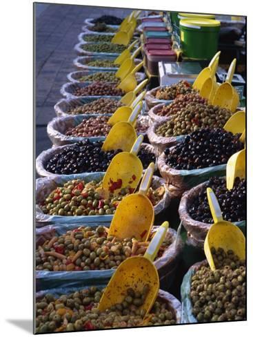 Olives on Market Stall, Provence, France, Europe-Miller John-Mounted Photographic Print