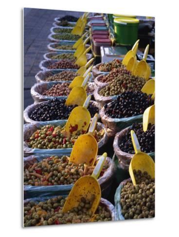 Olives on Market Stall, Provence, France, Europe-Miller John-Metal Print