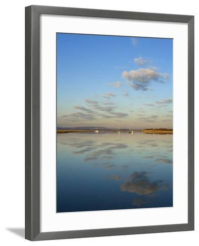 Boats Moored at East Head, West Wittering, Near Chichester, West Sussex, England, United Kingdom-Miller John-Framed Art Print