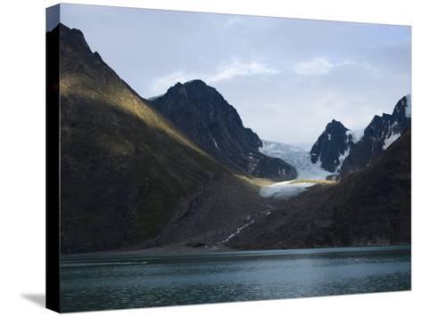 Coastline and Glacier, Greenland, Polar Regions-Milse Thorsten-Stretched Canvas Print