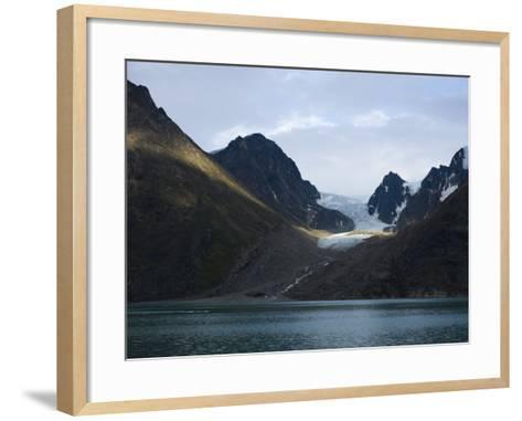 Coastline and Glacier, Greenland, Polar Regions-Milse Thorsten-Framed Art Print
