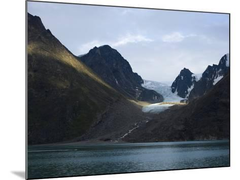 Coastline and Glacier, Greenland, Polar Regions-Milse Thorsten-Mounted Photographic Print