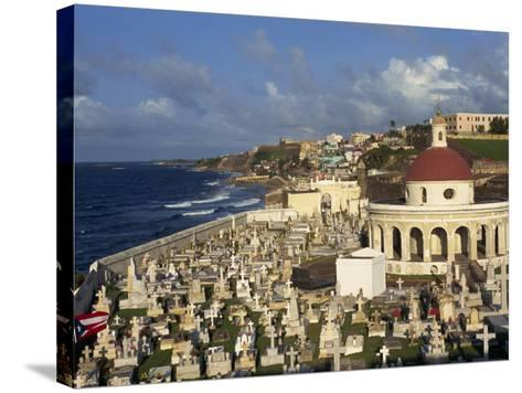 Cemetery on the Coast in the City of San Juan, Puerto Rico, USA, West Indies-Mawson Mark-Stretched Canvas Print