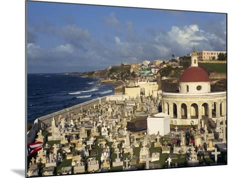 Cemetery on the Coast in the City of San Juan, Puerto Rico, USA, West Indies-Mawson Mark-Mounted Photographic Print