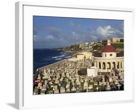 Cemetery on the Coast in the City of San Juan, Puerto Rico, USA, West Indies-Mawson Mark-Framed Art Print
