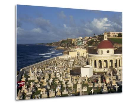 Cemetery on the Coast in the City of San Juan, Puerto Rico, USA, West Indies-Mawson Mark-Metal Print