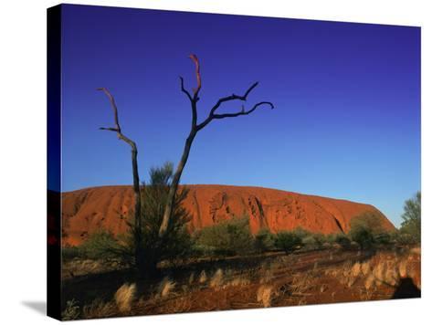 Ayers Rock at Sunrise, Uluru-Kata Tjuta National Park, Northern Territory, Australia, Pacific-Mawson Mark-Stretched Canvas Print