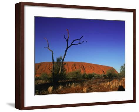 Ayers Rock at Sunrise, Uluru-Kata Tjuta National Park, Northern Territory, Australia, Pacific-Mawson Mark-Framed Art Print