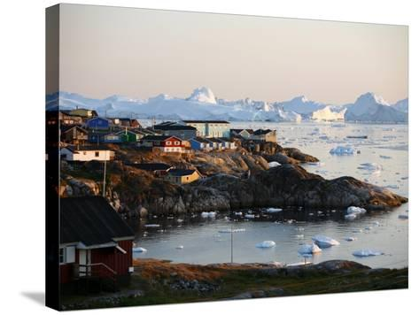 Ilulissat Kangerlua Glacier also known as Sermeq Kujalleq, Ilulissat, Disko Bay, Greenland-Levy Yadid-Stretched Canvas Print
