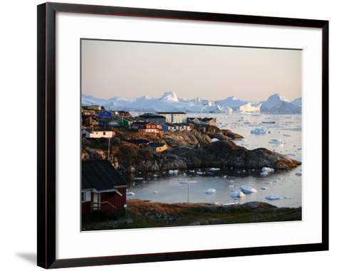 Ilulissat Kangerlua Glacier also known as Sermeq Kujalleq, Ilulissat, Disko Bay, Greenland-Levy Yadid-Framed Art Print
