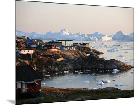 Ilulissat Kangerlua Glacier also known as Sermeq Kujalleq, Ilulissat, Disko Bay, Greenland-Levy Yadid-Mounted Photographic Print