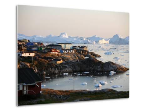 Ilulissat Kangerlua Glacier also known as Sermeq Kujalleq, Ilulissat, Disko Bay, Greenland-Levy Yadid-Metal Print