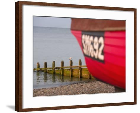 Fishing Boat, Worthing Beach, West Sussex, England, United Kingdom, Europe-Miller John-Framed Art Print