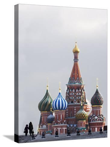 St. Basils Cathedral in the Evening, Red Square, UNESCO World Heritage Site, Moscow, Russia, Europe-Lawrence Graham-Stretched Canvas Print